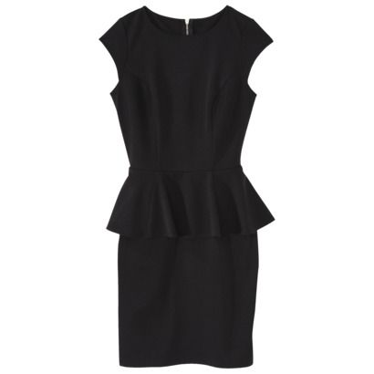 Update your average LBD with a sophisticated silhouette #style #peplum #Mossimo