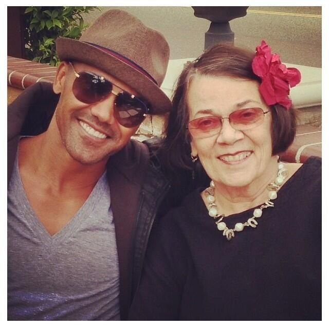 Photo de Shemar Moore & son  mère  Marilyn Wilson