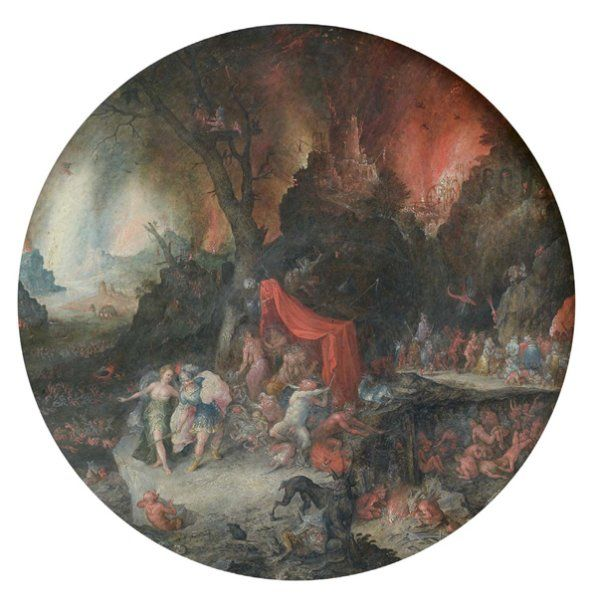Josef van BREDAEL (Anvers 1688 - Paris 1739)  Enée et la Sibylle de Cumes aux enfers Cuivre rond Diamètre : 31,5 cm  Vendu 150000€ aux #encheres le 04/12/09 par Millon & Associés