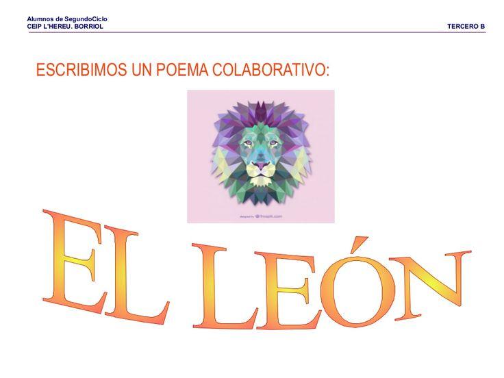 Tic poema-el leon by Pilar Garcia Mor via slideshare