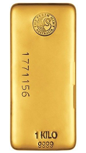 1kg Perth Mint Gold Bullion Bar