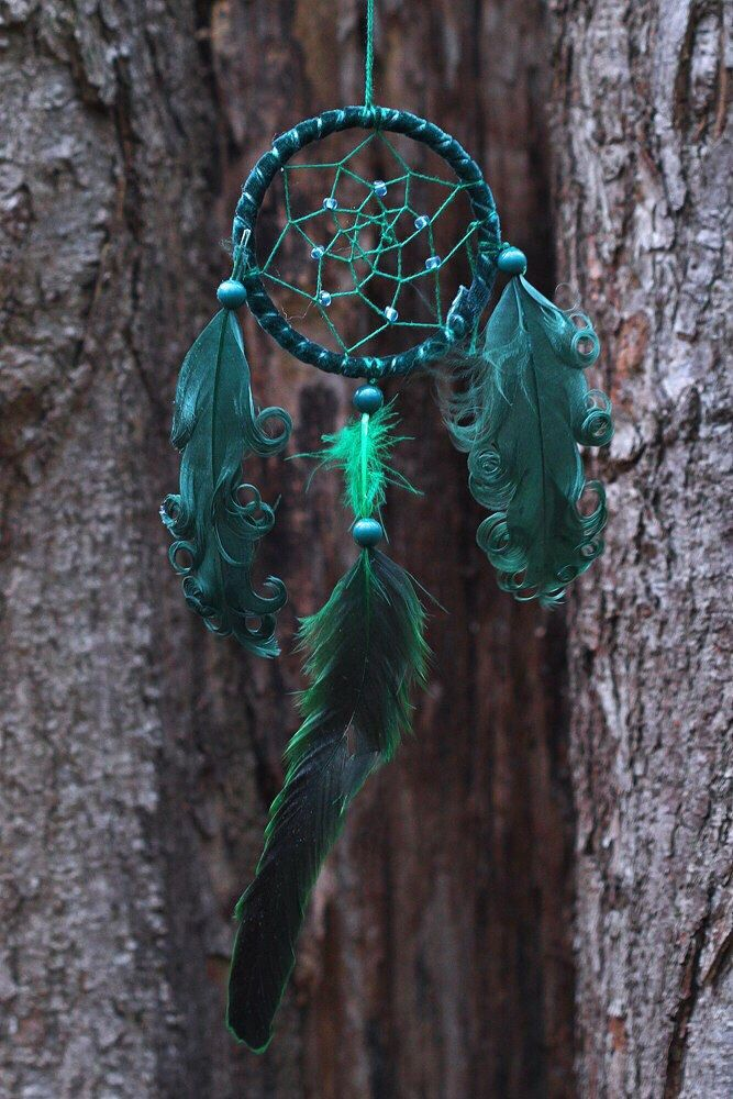 A personal favorite from my Etsy shop https://www.etsy.com/listing/287550145/curly-color-dreamcatchers
