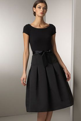Heidi Weisel Cashmere-Bodice Dress - in my younger life, I could have worn this
