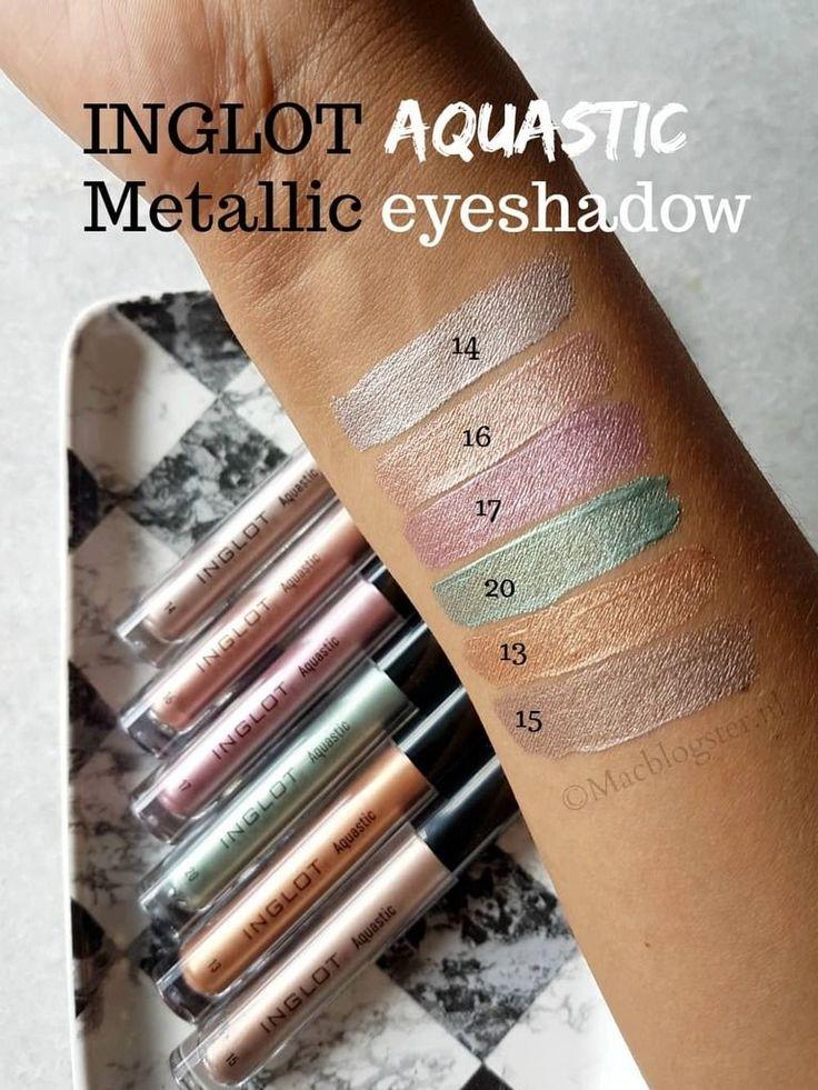 Spelen met deze vloeibare metallic liquid eyeshadow van Inglot. Je kunt ze oa als oogschaduw, eyeliner, highlighter en lipstick gebruiken. Lees mijn review. #inglot #metallic #oogschaduw
