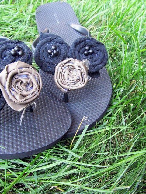 Repurposed flip flops. Way too easy!