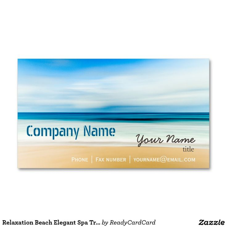 Relaxation beach elegant spa travel vacation business card relaxation beach elegant spa travel vacation business card business cards and business reheart Choice Image