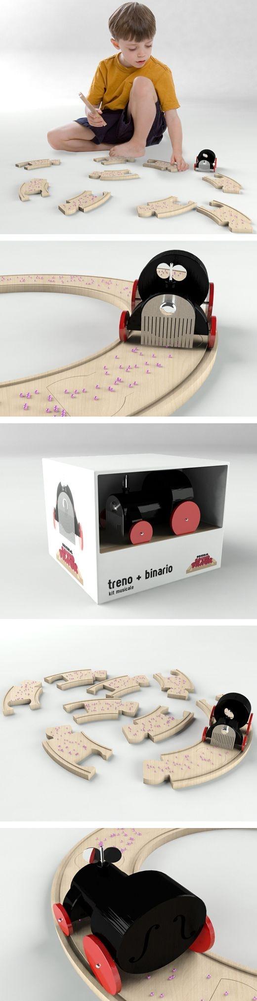 Designé par Ricardo Seola, ce jouet est un jouet éducatif pour les enfants afin de les initier à la musique, au rythme. L'idée est reprise des boîtes à musique et combine ainsi toutes les possibilités de la construction d'une piste musicale…