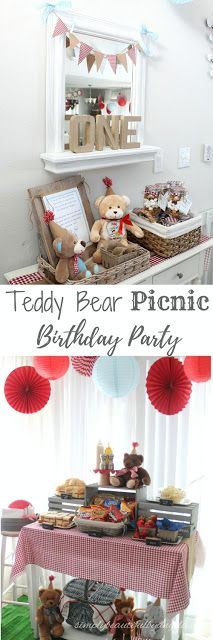 Simply Beautiful By Angela: Teddy Bear Picnic First Birthday Party.  DIY 1st Birthday Party on a Budget