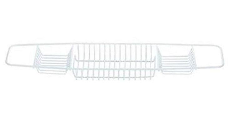 Tesco direct: Blue Canyon Bath Rack - Ideal Shelf for Soap / Flannels - White - Plastic