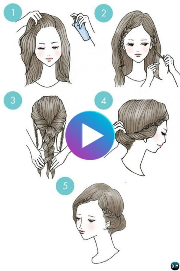 3 Minute Easy Busy Morning Hairstyles Braided Crown Hairstyles Braided Hairstyles Easy Cute Hairstyles