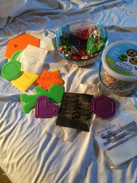 Huge Collection Perler beads pegboards ironing papers