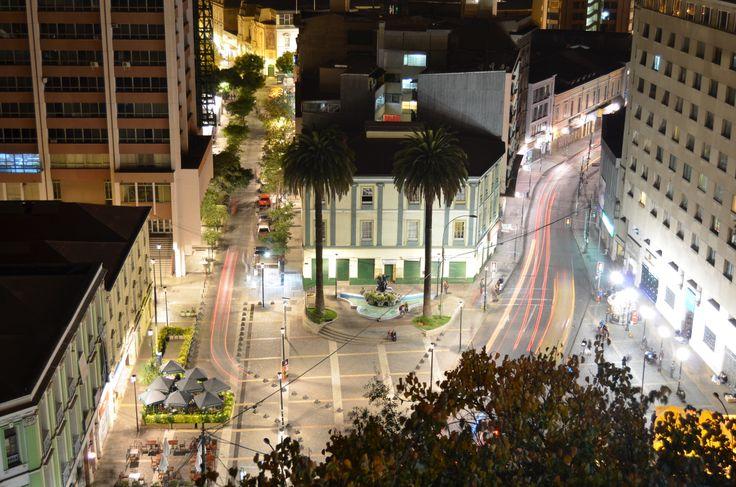 Valparaiso, Plaza Anibal Pinto desde Paseo Atkinson