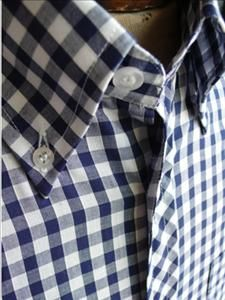 Great gingham (if it gets a small stain it should be less noticeable on a tight pattern shirt)