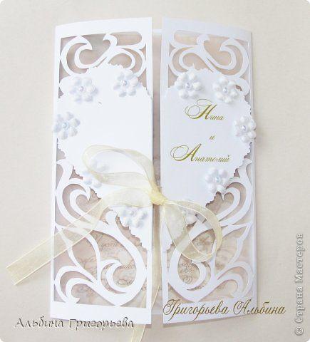 Ажурная открытка на Золотой юбилей свадьбы 50 лет! Событие, несомненно, редкое и очень значимое для всего рода. фото 4