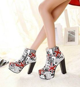 Hot Women's High Jump Platform Ankle Boots Lace Gothic Punk Rivet Knight Boots | eBay