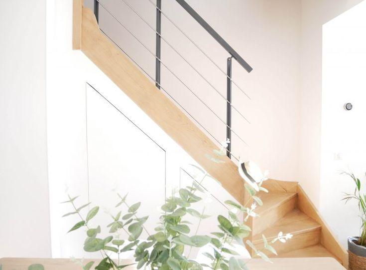Placard sous escalier, Rangement sous escalier, gain de place, minimaliste, épuré