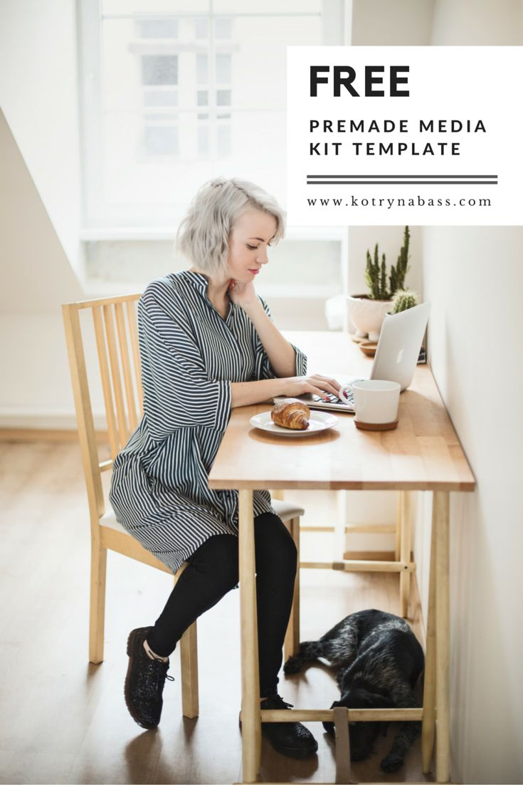 Creating a Media Kit for your brand is crucial. Click through to get a FREE premade media kit template!