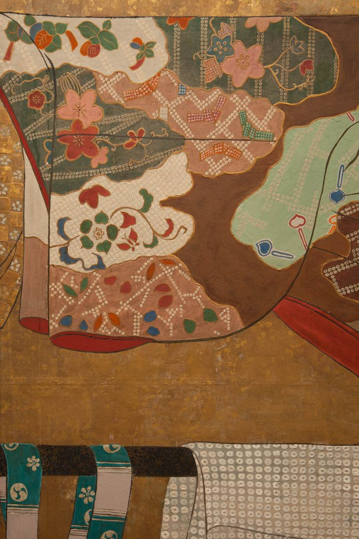 Color in japanese art - Japanese Screen Whose Sleeves Tagasode