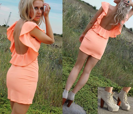 Bright!: Shoes, Summer Dresses, Backless Dresses, Cute Dresses, Neon, Open Backs, The Dresses, Bright Colors, Ruffles