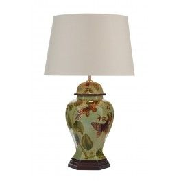 Botanic Table Lamp Pale Green/ Butterfly Base