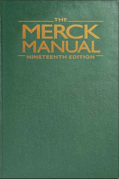 merck manual of diagnosis and therapy 19th edition pdf