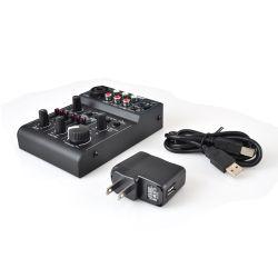 Best DJ Equipment for Beginners - Pyle (PAD30MXUBT) Bluetooth 3-Channel Mixer DJ Controller Audio Interface 18V Phantom Power Supply