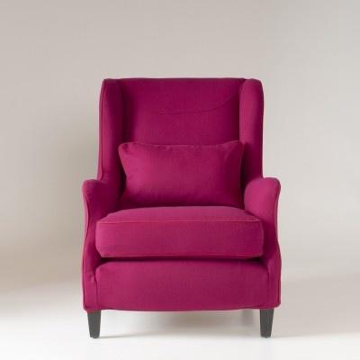 fuchsia jewel tone wool chair from schoolhouse electric