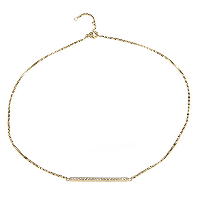 Ingnell Jewelley - Line necklace gold. Stainless steel. www.ingnelljewell.com