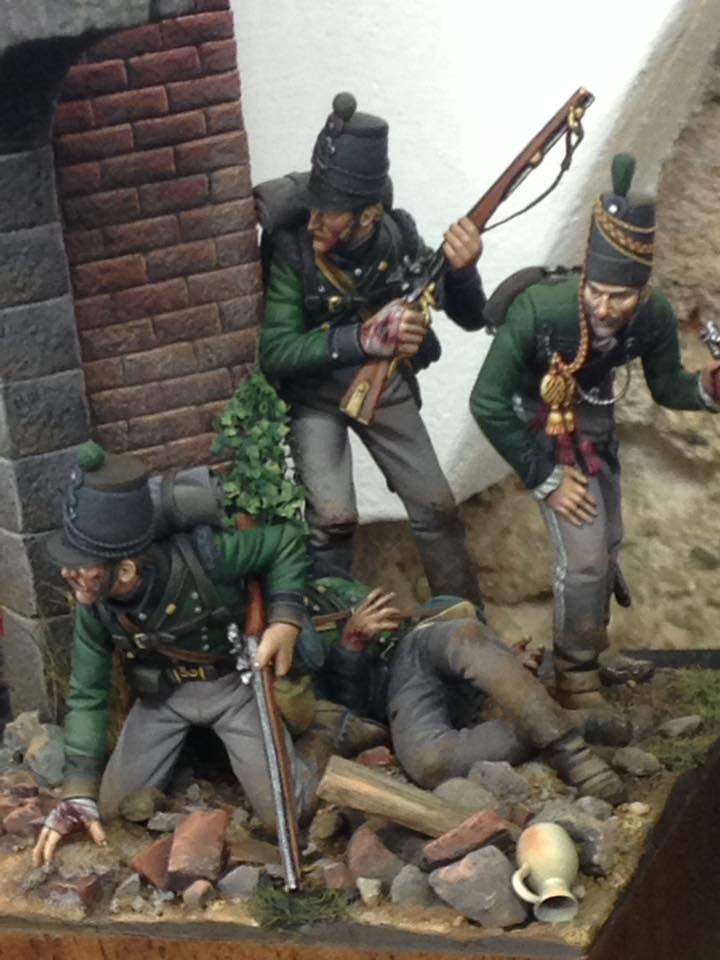 British 95th Rifles. Author unknown. Very nice figures!