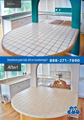 Don't replace - refinish! : Ceramic tile refinishing and resurfacing is not only more practical but also less expensive than new tile and you can avoid the mess of removal and replacement.