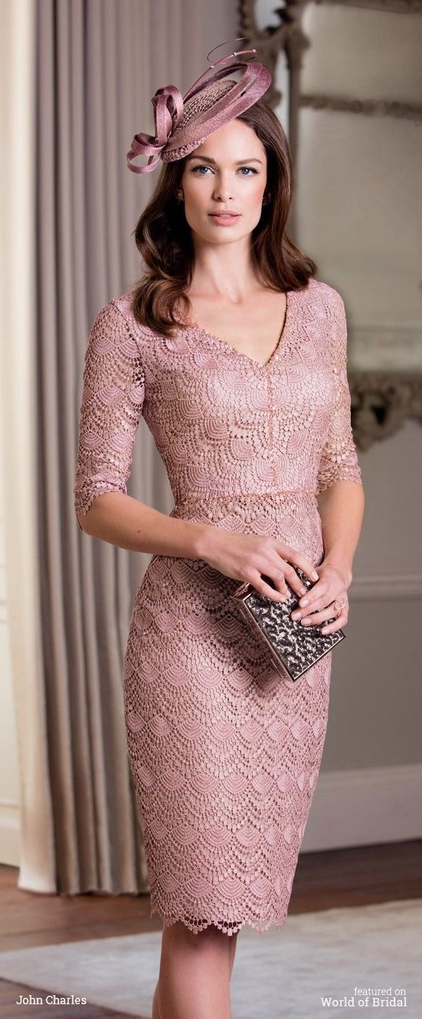 Modern soft lace top over sequin, embellished knee-length dress available with a coordinated crop jacket.