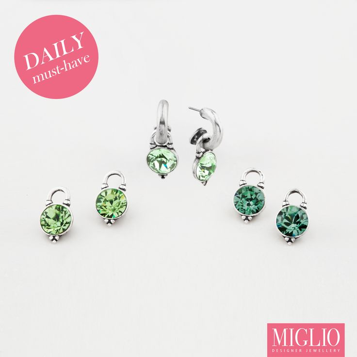 #StPatricksDay - #Miglio must have #lucky #green #earring set!