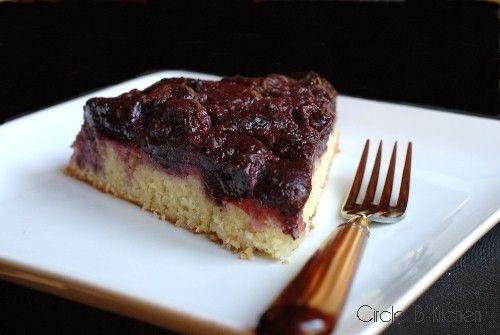 Cherry Cornmeal Upside-Down Cake - Circle B Kitchen