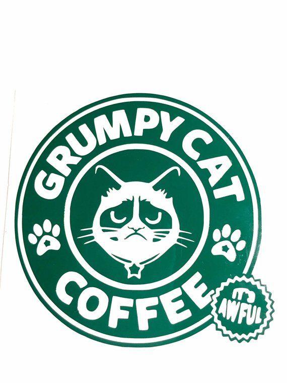 GRUMPY CAT Vinyl Decal Car Wall Window Sticker CHOOSE SIZE COLOR