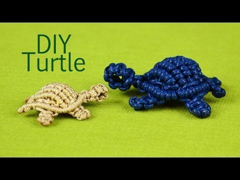 How to: Macramé Turtle, Tortoise, Tortue, Tortuga, Tartaruga - YouTube