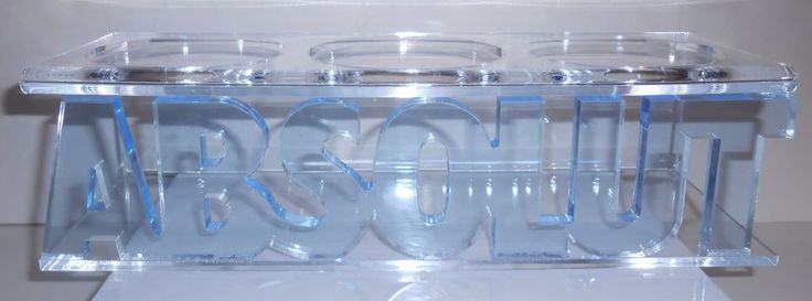 ABSOLUT VODKA ACRYLIC DISPLAY STAND ADVERTISING HOLDS 3 BOTTLES BARWARE BAR #Absolut