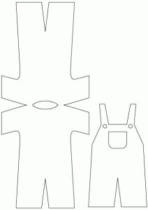 FREE dungarees card template