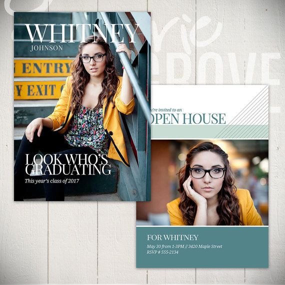 Graduation Announcement Template: Hit The by LaurieCosgroveDesign