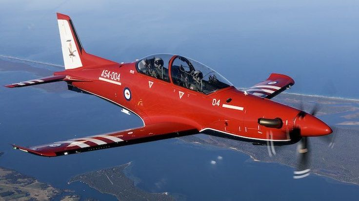 A RAAF PC-21 in flight over Victoria's Gippsland region. (Defence) The first six Pilatus PC-21 advanced trainers for the Royal Australian Air Force were formally welcomed into service during a ceremony at RAAF Base East Sale, Victoria on Friday.  Forty-nine PC-21s as well as simulators and training devices are being acquired under the AIR 5428 Pilot Training System. #AdvancedBusinessDegrees #SalesForceTraining