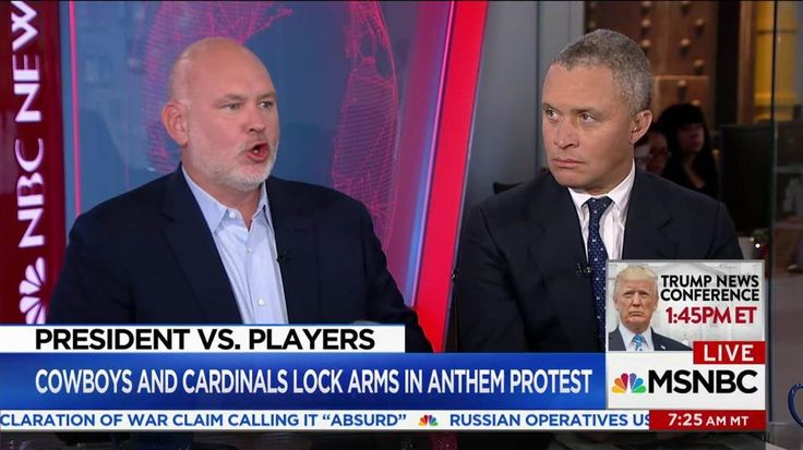 MSNBC contributor Steve Schmidt responds to Trump's attacks on athletes and says the president is hijacking American values in order to score political points, which is more of a threat to the flag than the protests themselves.