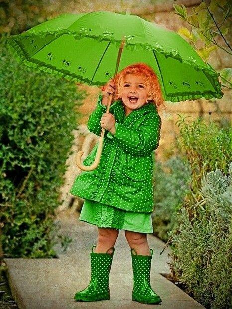 Картинки в зеленом цвете дети