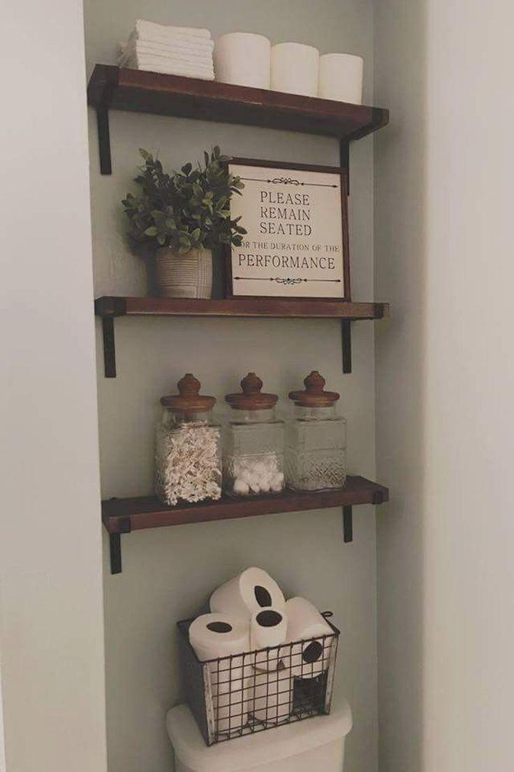 85 Ideen für bäuerliche Badezimmer-Aufbewahrung – #BadezimmerAufbewahrung #bä…
