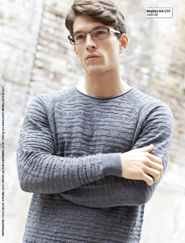 Complement a winter knit with these Replay specs.