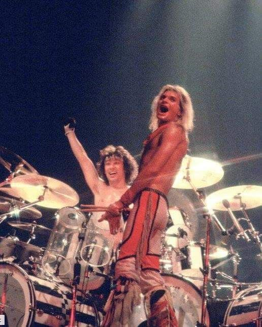 David Lee Roth and Alex Van Halen - Fair Warning Tour, Hollywood Sportatorium, Pembroke Pines, Florida. August 18, 1981.