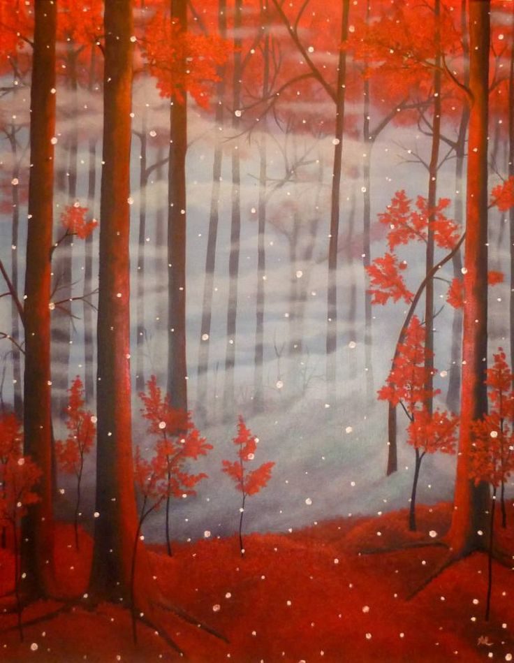 "Saatchi Art Artist Anthony Lusignan; Painting, ""First Fall"" #art"