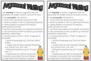 Argument/Persuasive Text checklist Classroom Treasures: Writing