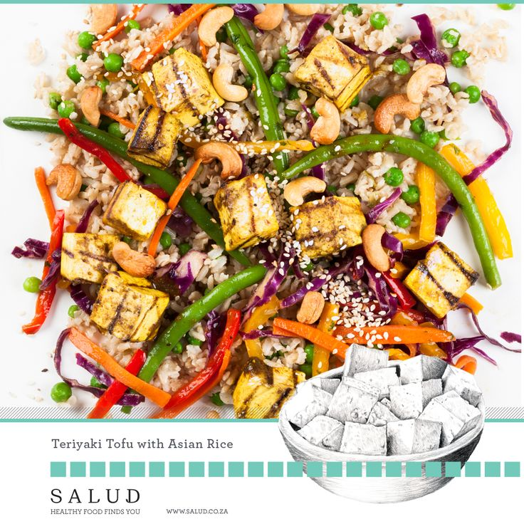 Terriyaki tofu with asean rice. Healthy prepared take home meals delivered to you.   www.salud.co.za