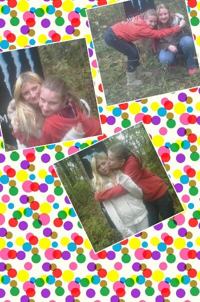 Me the one in the white jacket is jasmine an  the other girl that has blonde hair is breyanna