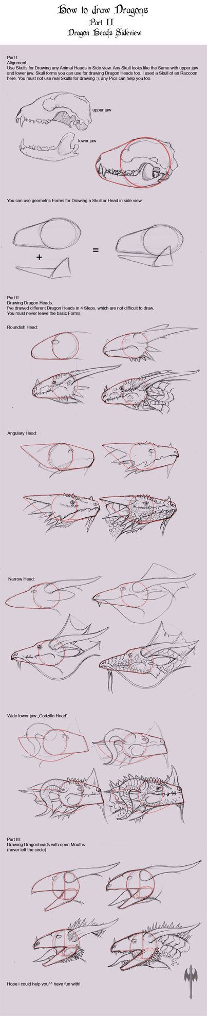 How to Draw Dragons II by ~Tarjcia on deviantART                                                                                                                                                                                 Más