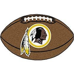 Washington Redskins football shaped mat